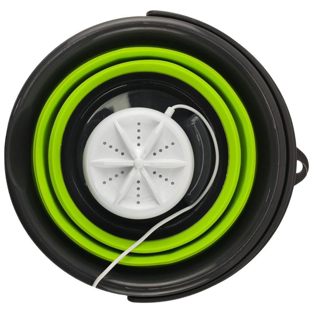 Mini Maquina de Lavar Balde Retratil 4l Usb Dobravel Portatil Panos Mascaras Meias Roupas
