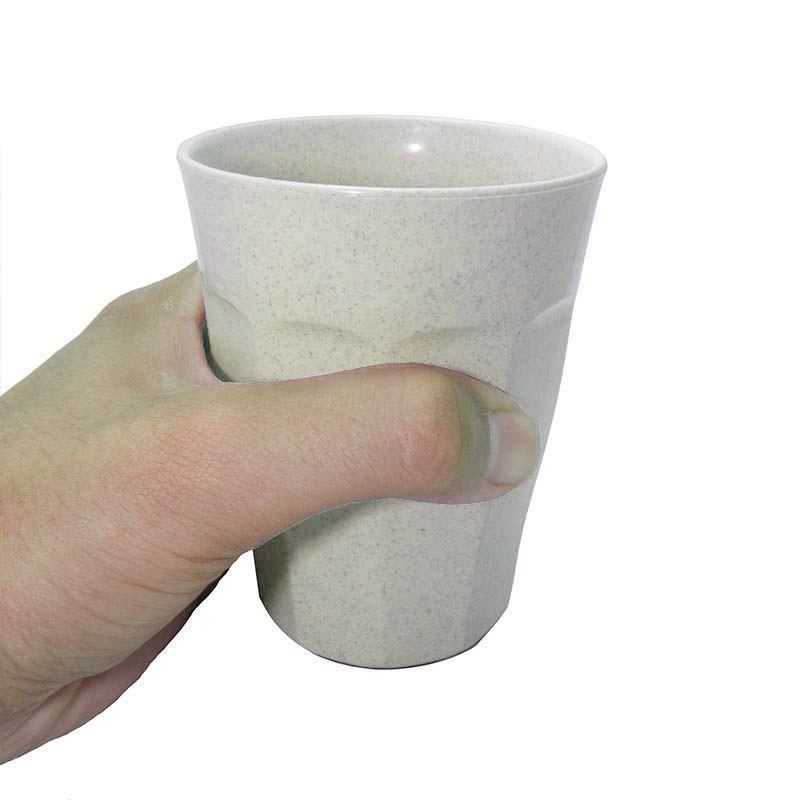 Copo agua Creme Com Ventosa Antiqueda 280ml Nao Cai
