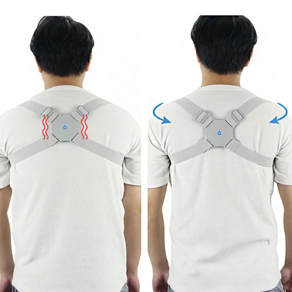 Corretor Postural Inteligente Ajustavel Vibratorio Alinhamento Postura Sensor Cinta Coluna Adulto Criança Costas