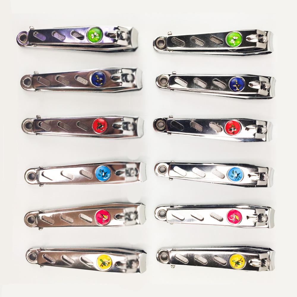 Cortador de Unha Com Lixa Alicate Kit 12 Und Em Aço Inox Manicure