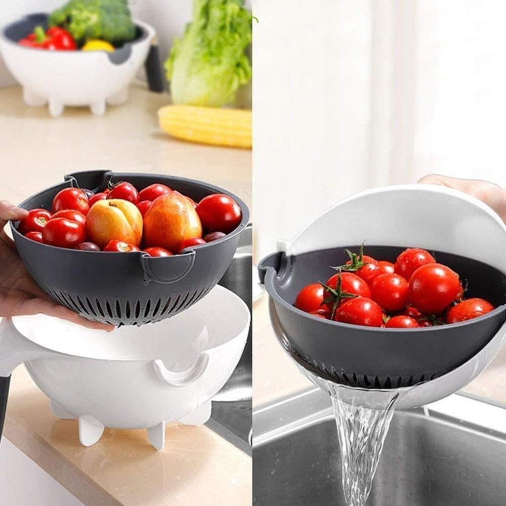 Cortador Fatiador Legumes Salada Frutas Cozinha Alimentos Ralador Escorredor Multifuncional