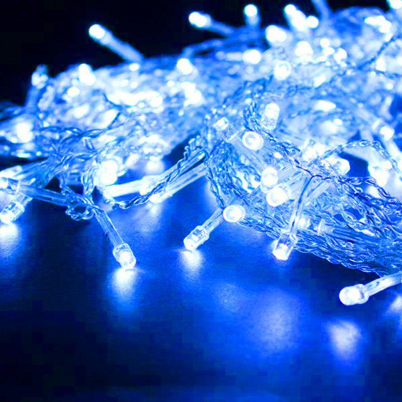 Cortina Cascata 960 Leds Natal Festa 2 metros e 80 cm Decoracao Azul