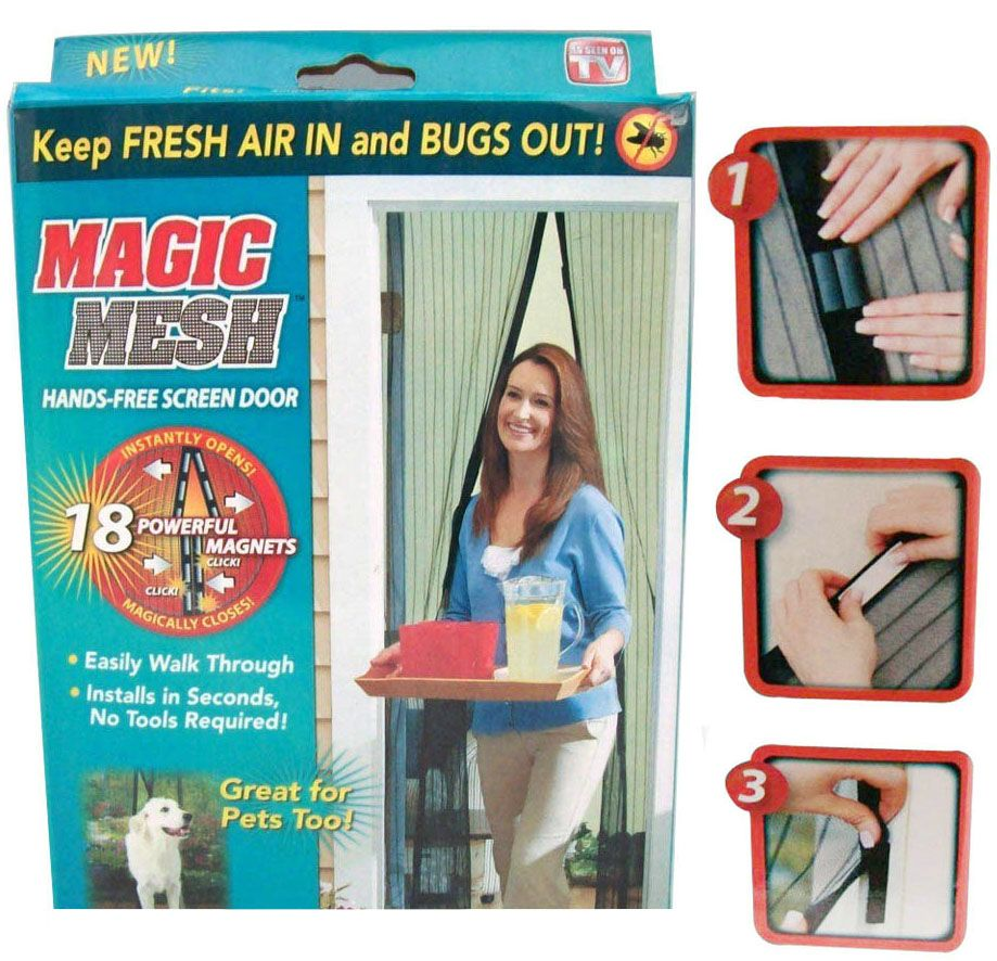 Cortina Tela Protetora Para Insetos Mosquiteiro Magic Mesh (BSL-MOSQ-1)