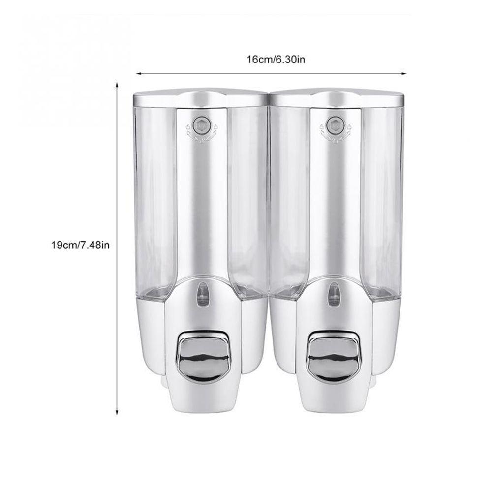 Dispenser Duplo Shampoo Kit 3 uni Alcool Gel Sabonete Liquido Hotel Shopping
