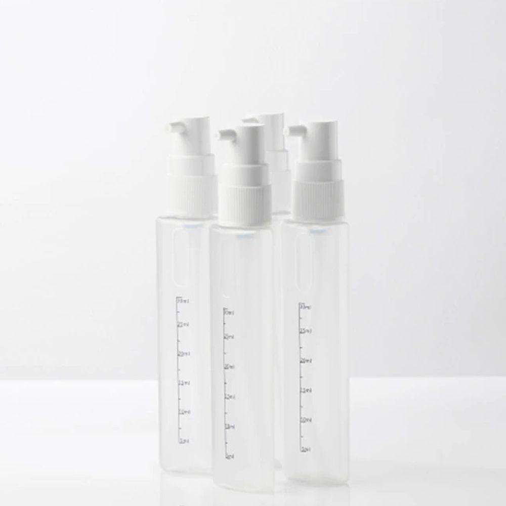 Dispenser Garrafa Portátil 4 Em 1 Viagens Loção Shampoo Gel Cremes Rosa