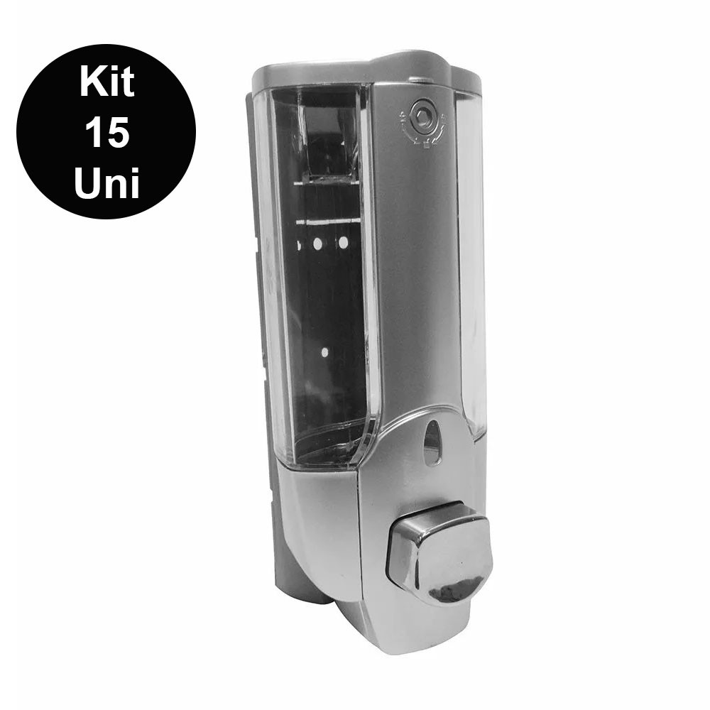 Dispenser Shampoo Sabonete Liquido Alcool Gel Hotel Restaurante Kit 15 Unidades