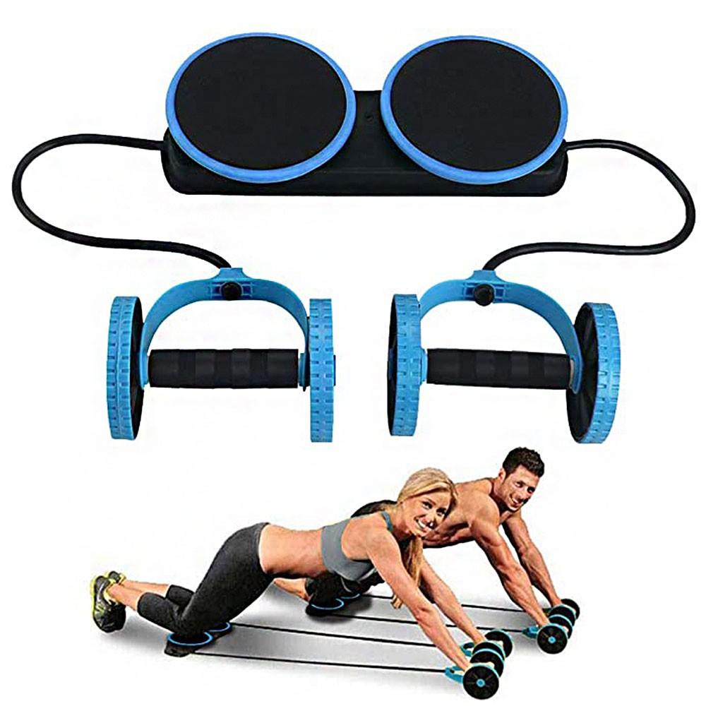 Elastico Exercicio Roda Abdomen Musculo Abdominal Revoflex Funcional Academia em Casa Tonificaçao
