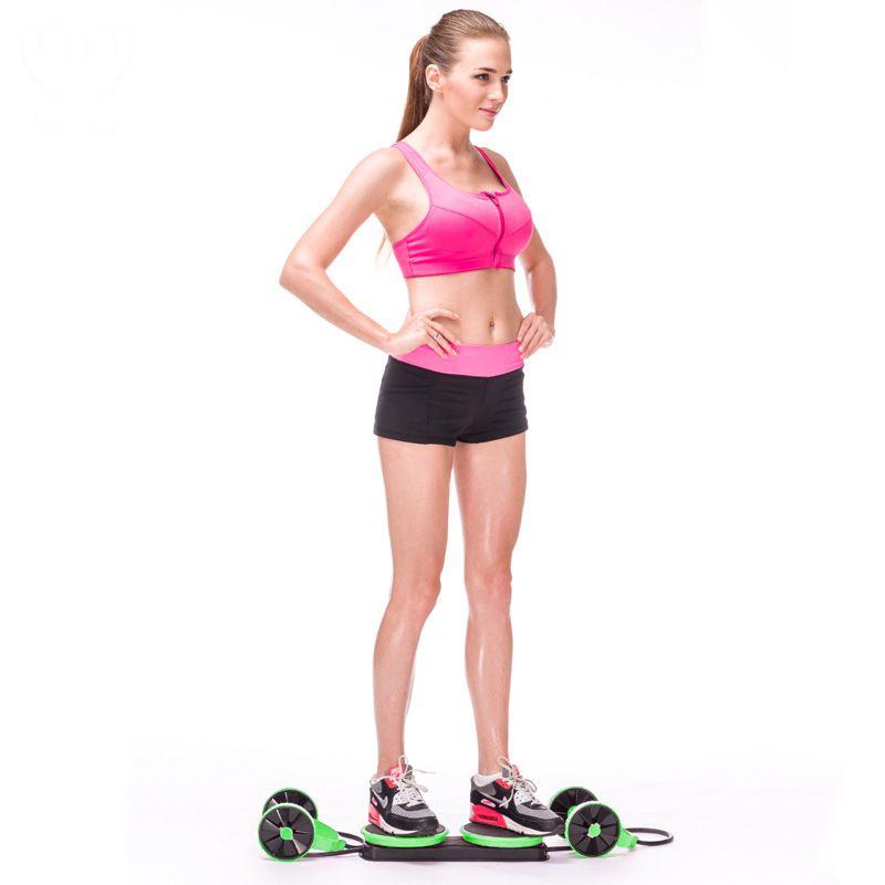 Elastico Exercicio Roda Abdomen Musculo Revoflex Funcional