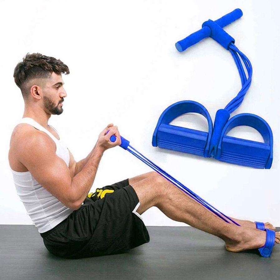 Elastico Extensor Academia em Casa abdominal Pilates Tonificação exercicio Puxe Corda Intensidade