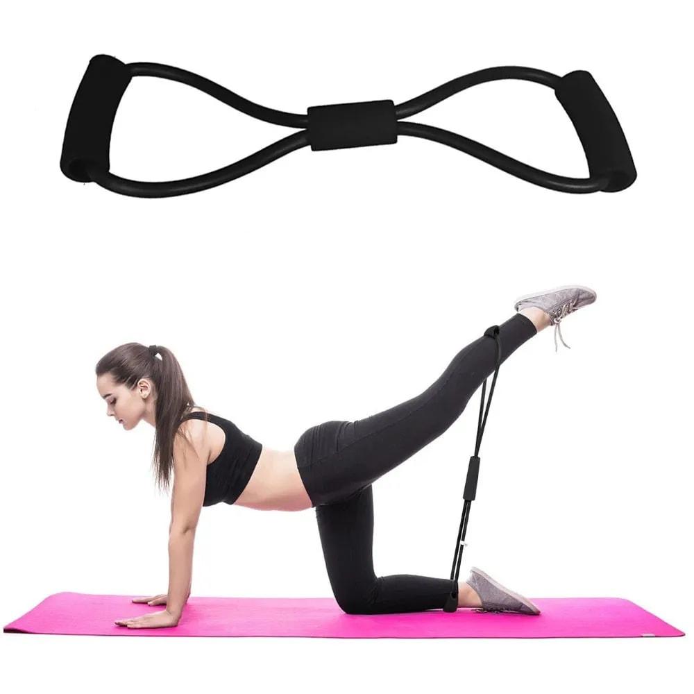 Elastico Extensor Exercicio Academia em Casa Tonificaçao Multifuncional Yoga Ginastica Fitness Pilates