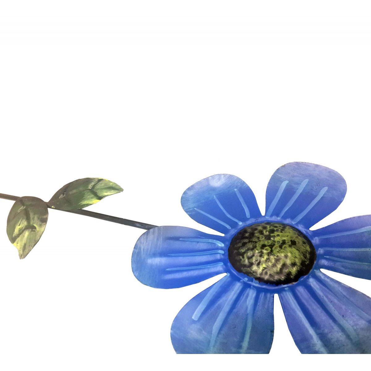 Enfeite de Ferro Para Jardim Casa Quintal Flor Para Pendurar Sortido Kit Com 4 (JARD-41)