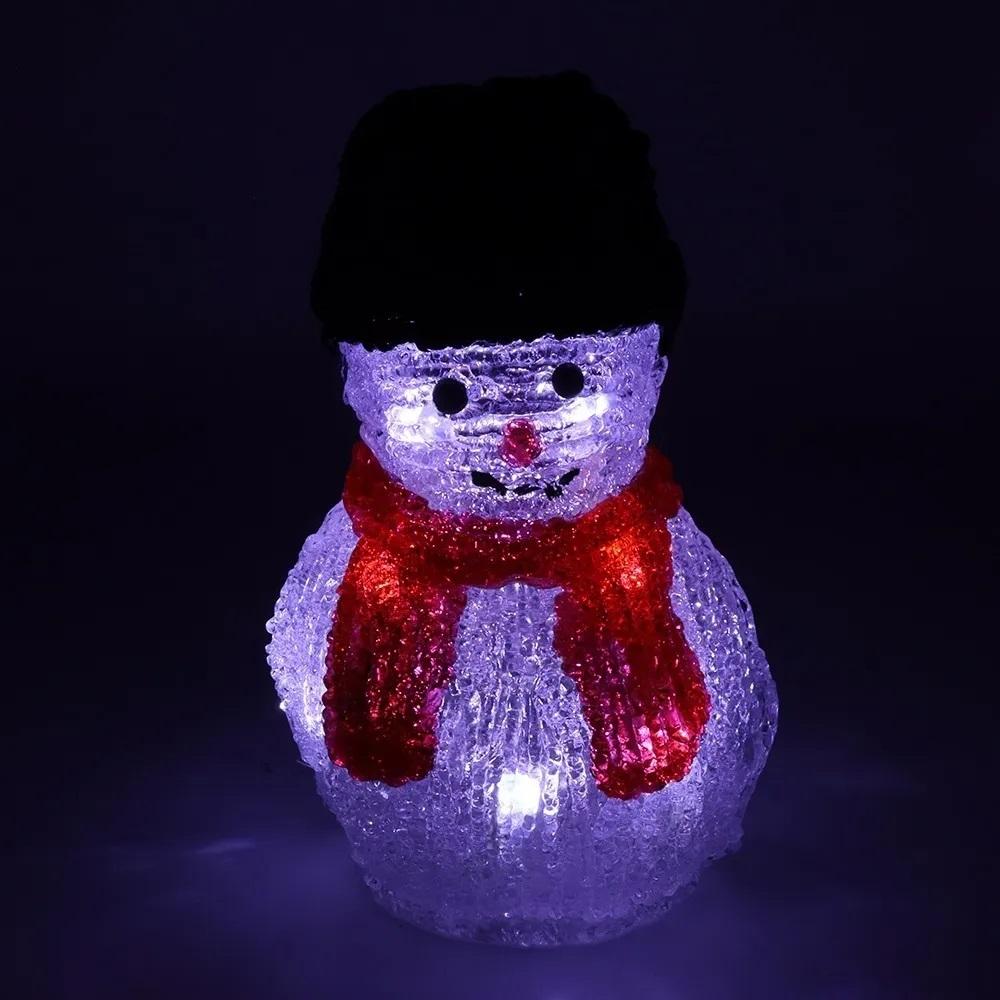 Enfeite Iluminado Kit 3 Peças Natal Boneco de Neve Caixa de Presente Papai Noel Mesa Decoracao Natalino