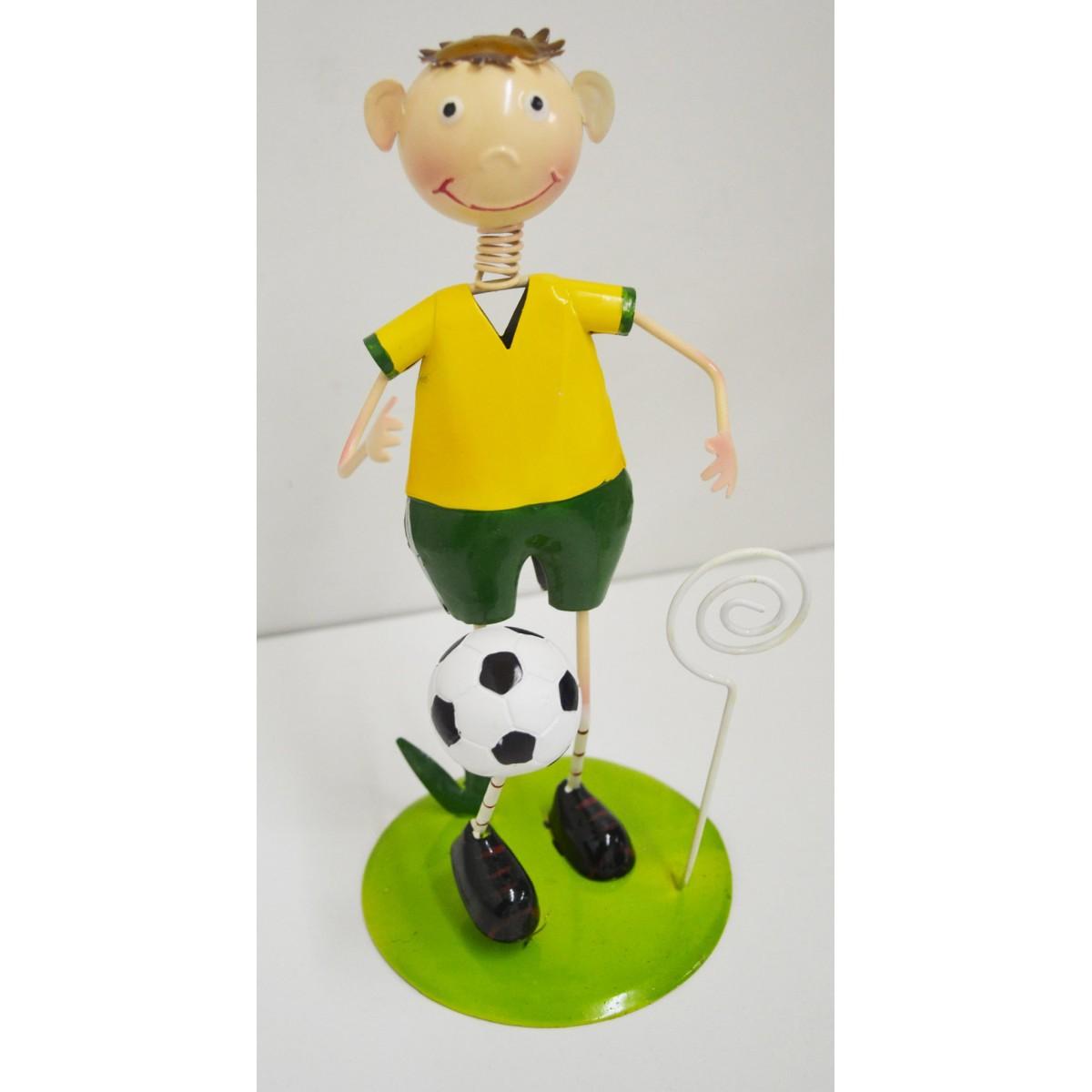 Enfeite Mesa Porta Recado Boneco Jogador Brasileiro Decoracao Copa do Mundo Brasil (BONP13)