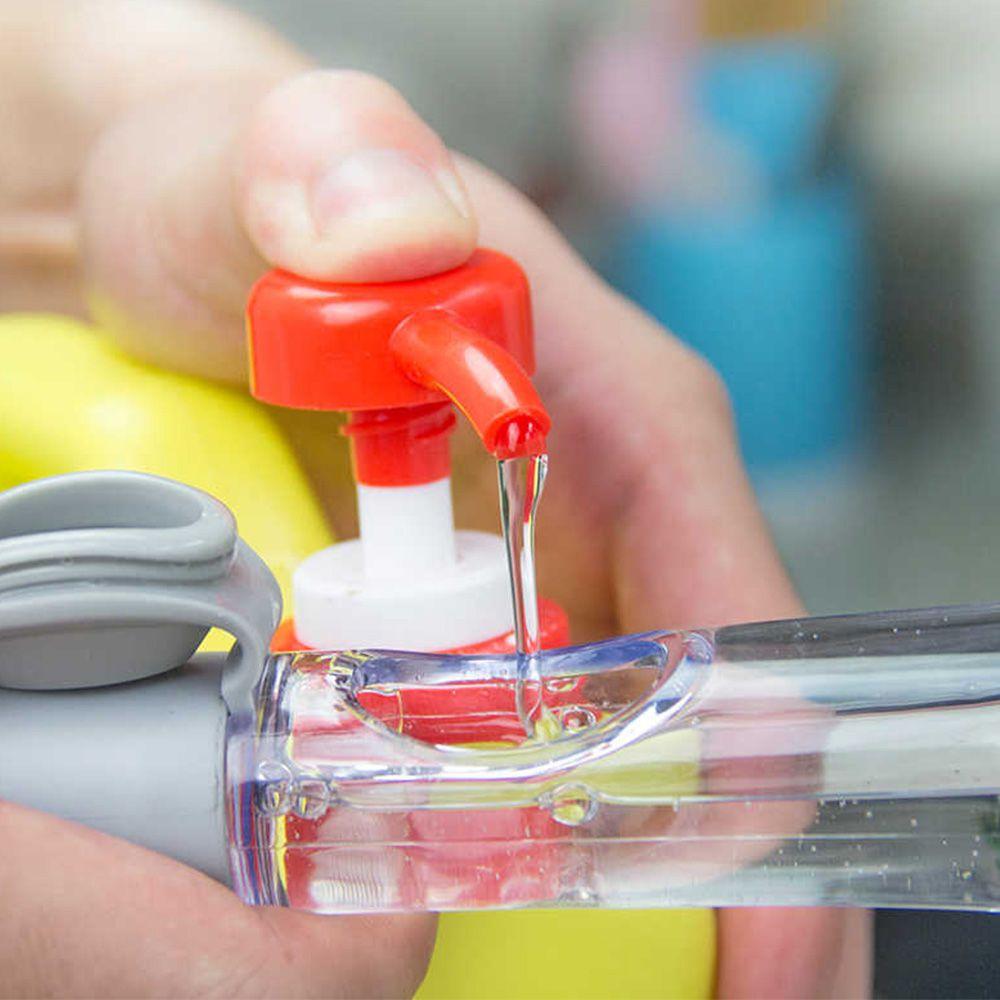 Escova de Limpeza 2 em 1 Dispenser Detergente Esponja Limpa Cozinha Louça