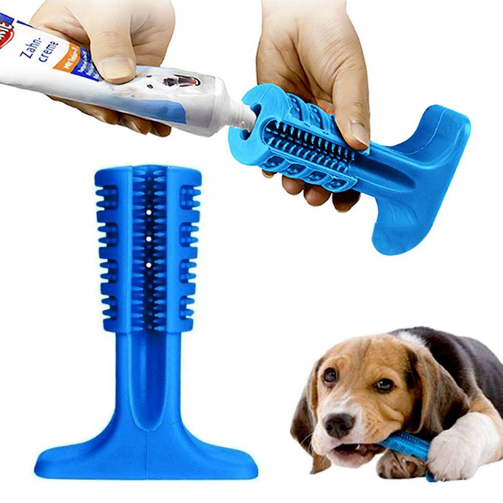 Escova Mordedor Dentes Cachorro Canino Medio Cao Pet Tartaro Limpeza Bucal