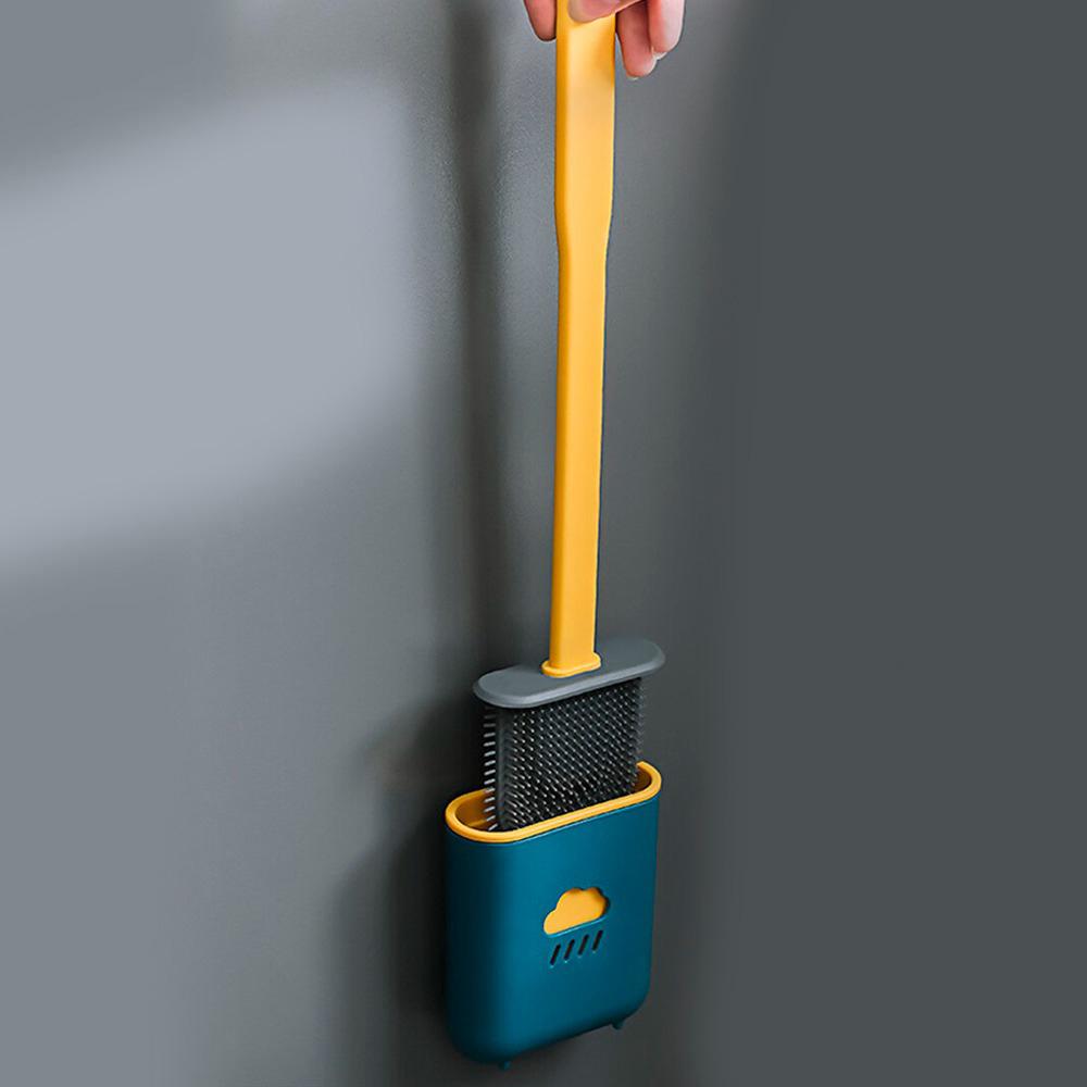 Escova Sanitaria de Silicone Privada Vaso Banheiro Limpeza