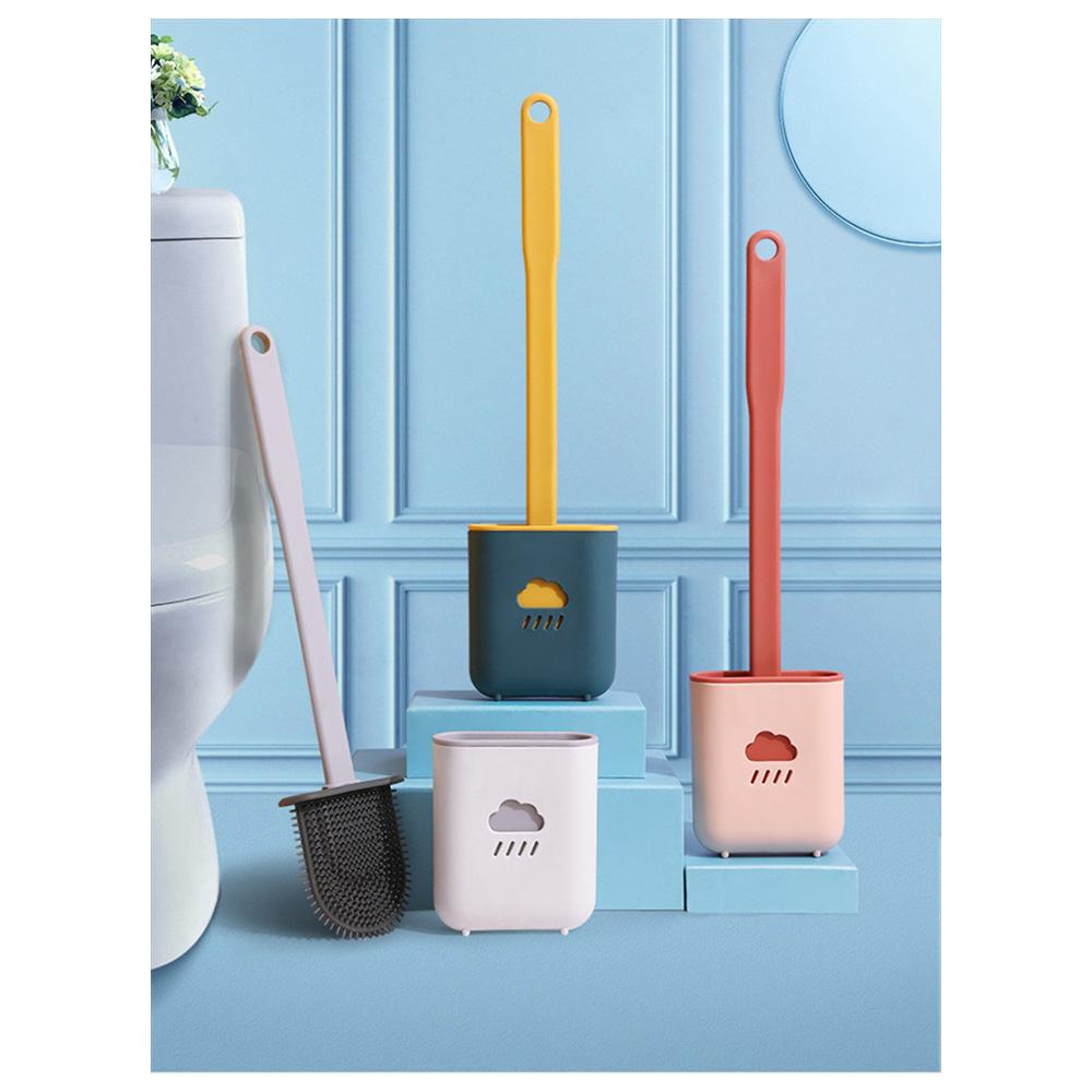 Escova Sanitaria de Silicone Vaso Privada Limpeza Banheiro