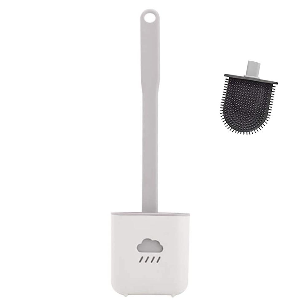 Escova Sanitaria Vaso Privada de Silicone Banheiro Limpeza