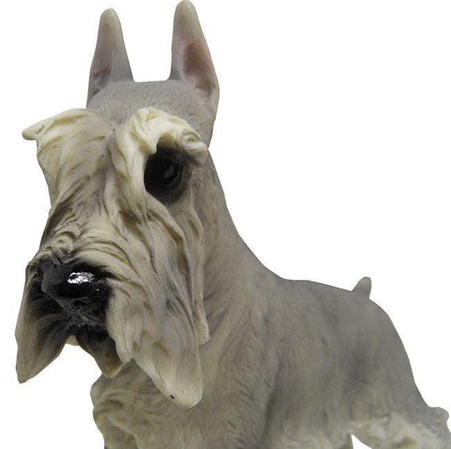 Escultura Schnauzer Cachorro de Resina Decoracao Miniatura (9147)