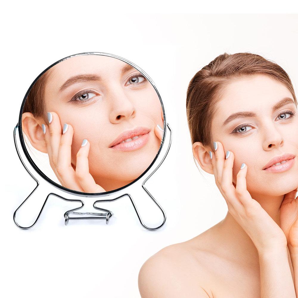 Espelho de Maquiagem Dupla Face com Aumento 7 Polegadas Mulher Beleza