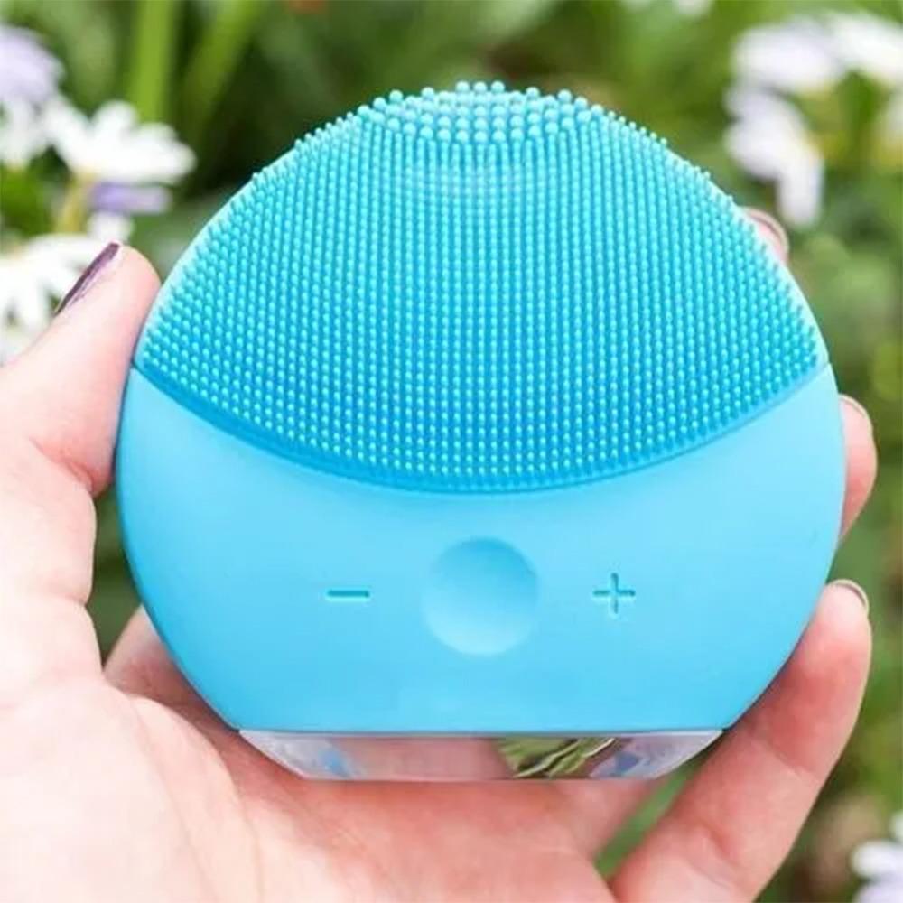 Esponja Massagedora Eletrica Kit 3 Uni Limpeza Facial Mini USB Ultra Sonica