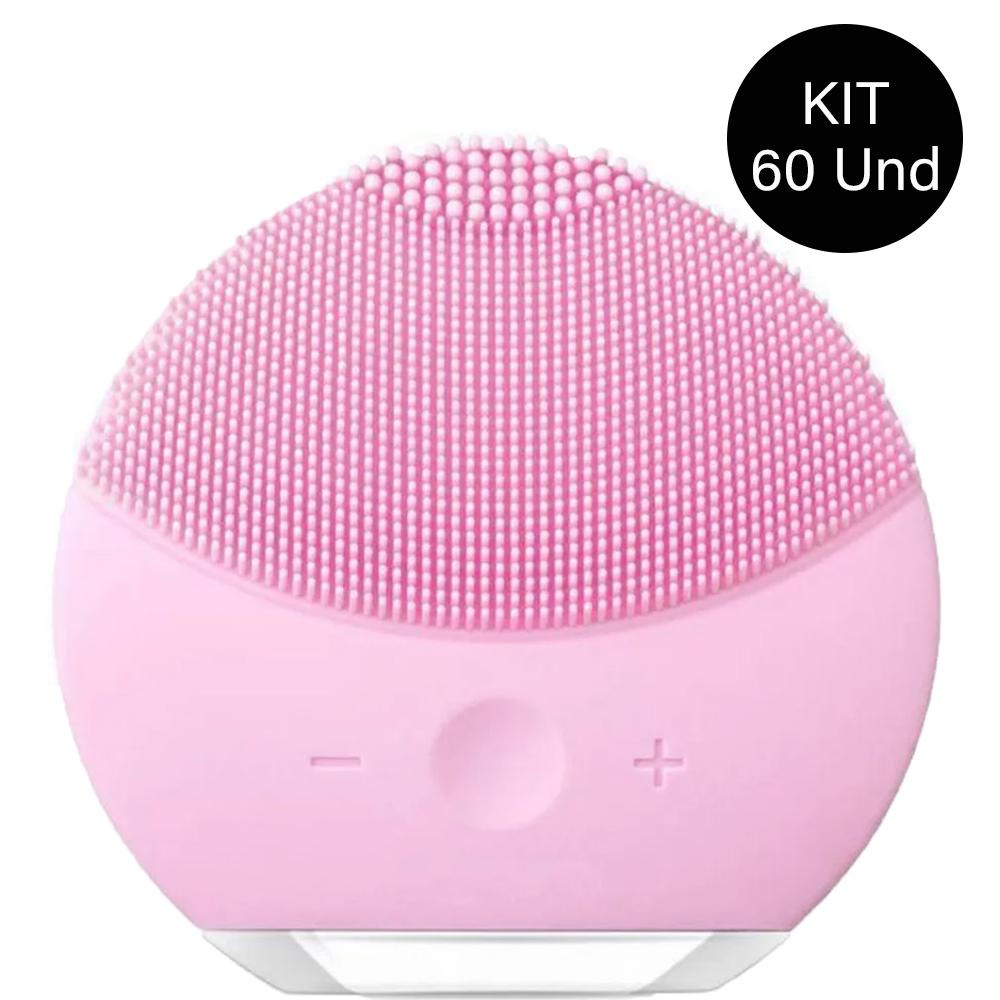 Esponja Massagedora Eletrica Limpeza Facial Mini USB Kit 60 Uni relaxamento