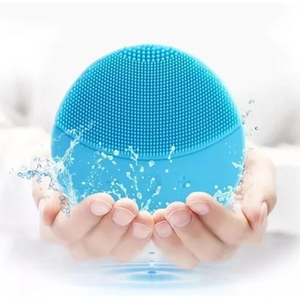 Esponja Massagedora Eletrica Limpeza Facial Mini USB Ultra Sonica