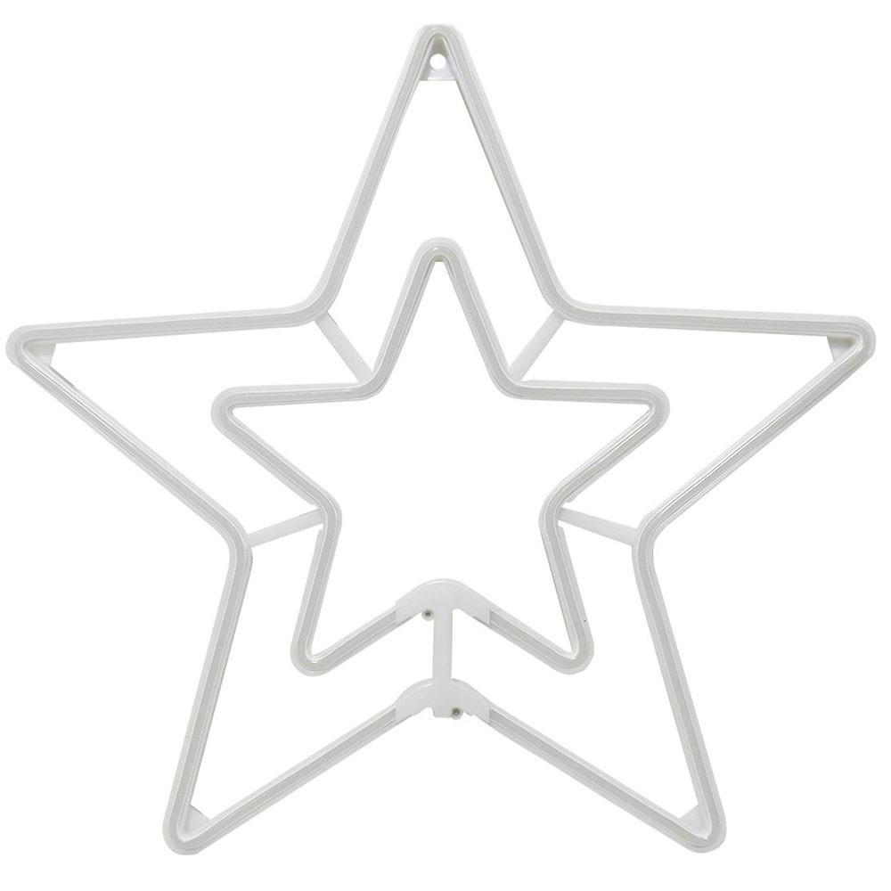 Estrela Pisca Pisca Natal Decoracao Enfeite Natalino Iluminaçao Branco Frio Luz