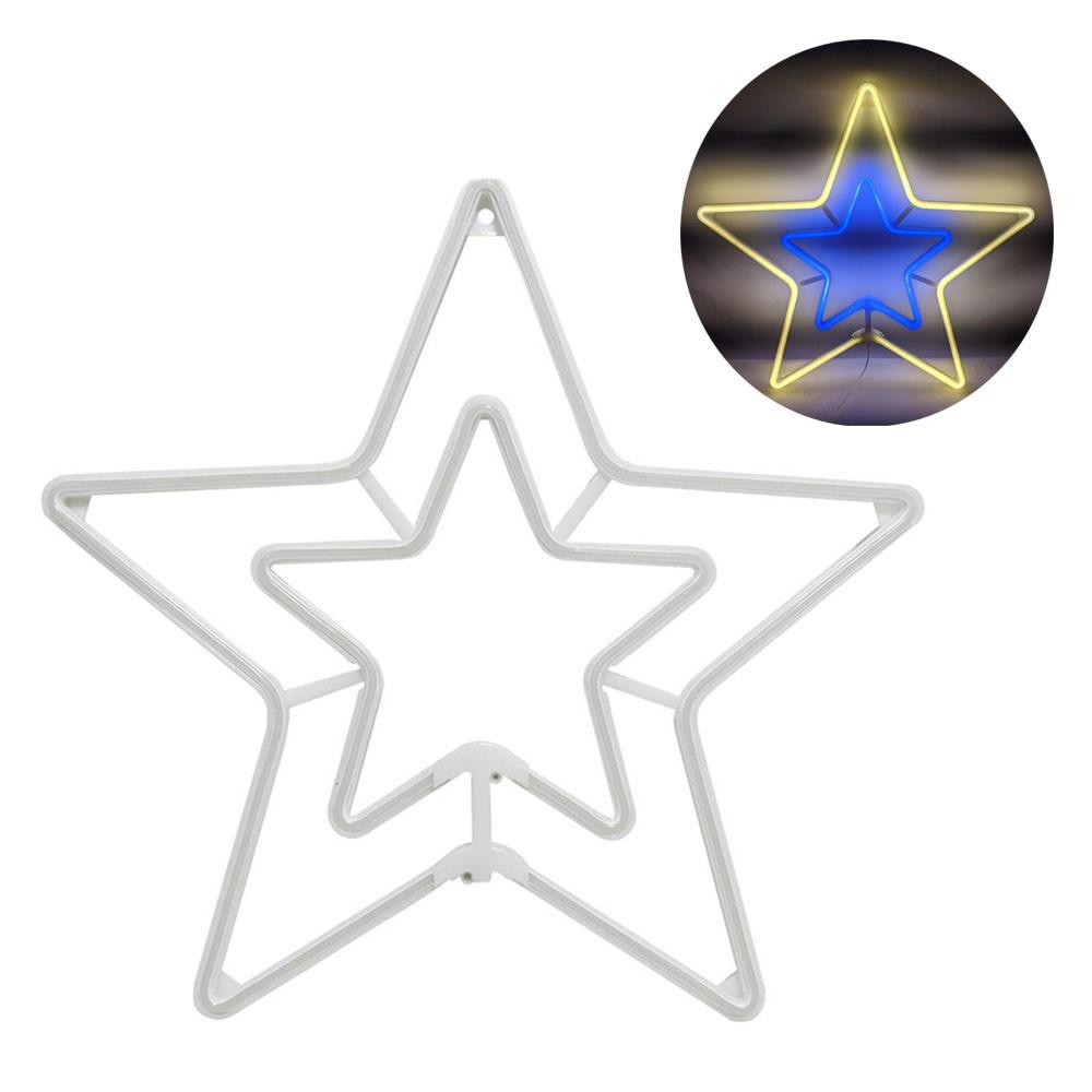 Estrela Pisca Pisca Natal Decoracao Enfeite Natalino Iluminaçao Branco Quente