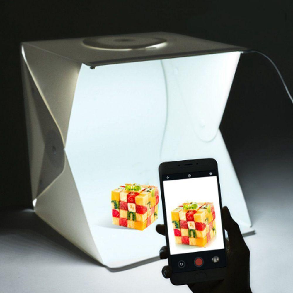 Estudio Fotografico Caixa de Foto Box LED Produtos Fotografia Portatil Youtuber Profissional Produtora