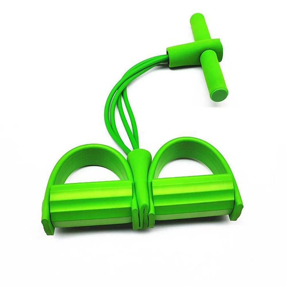 Extensor 4 tubos Academia Pedal Fitness Casa abdominal elastico cordas Pilates exercicio Intensidade