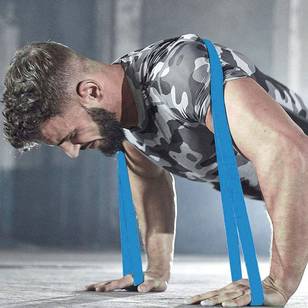 Faixa Elastica Extensor Exercicio Em Casa Academia Resistencia Fitness Pilates