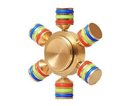 Fidget Cubo Para Ansiedade Cube Spinner Anti Estresse Dedo Apertar Relaxamento Cinza E Vermelho ( BSL-GIRA-3 )