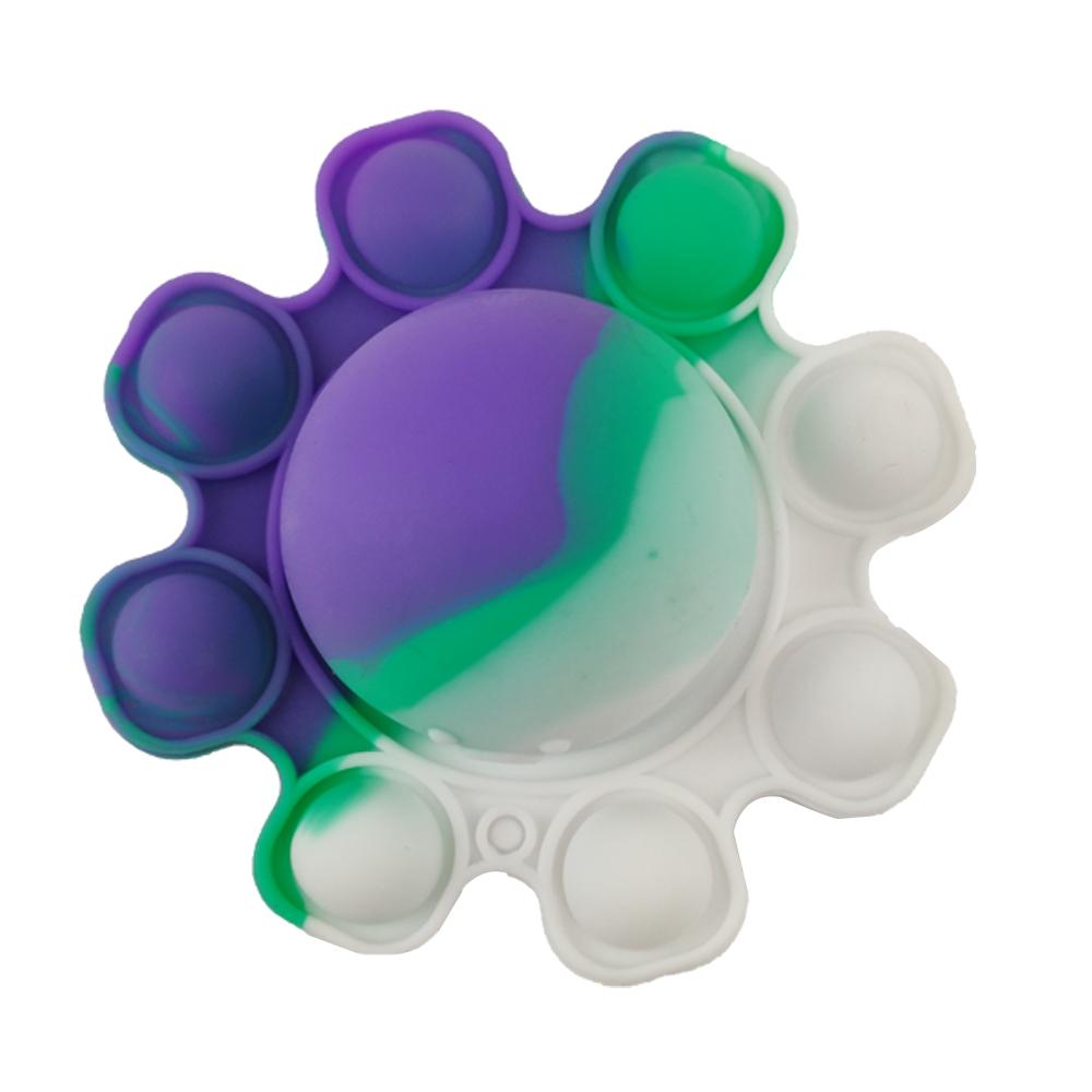 Fidget Polvo Pop It Chaveiro Anti Estresse Ansiedade Sensorial Relaxa Mente