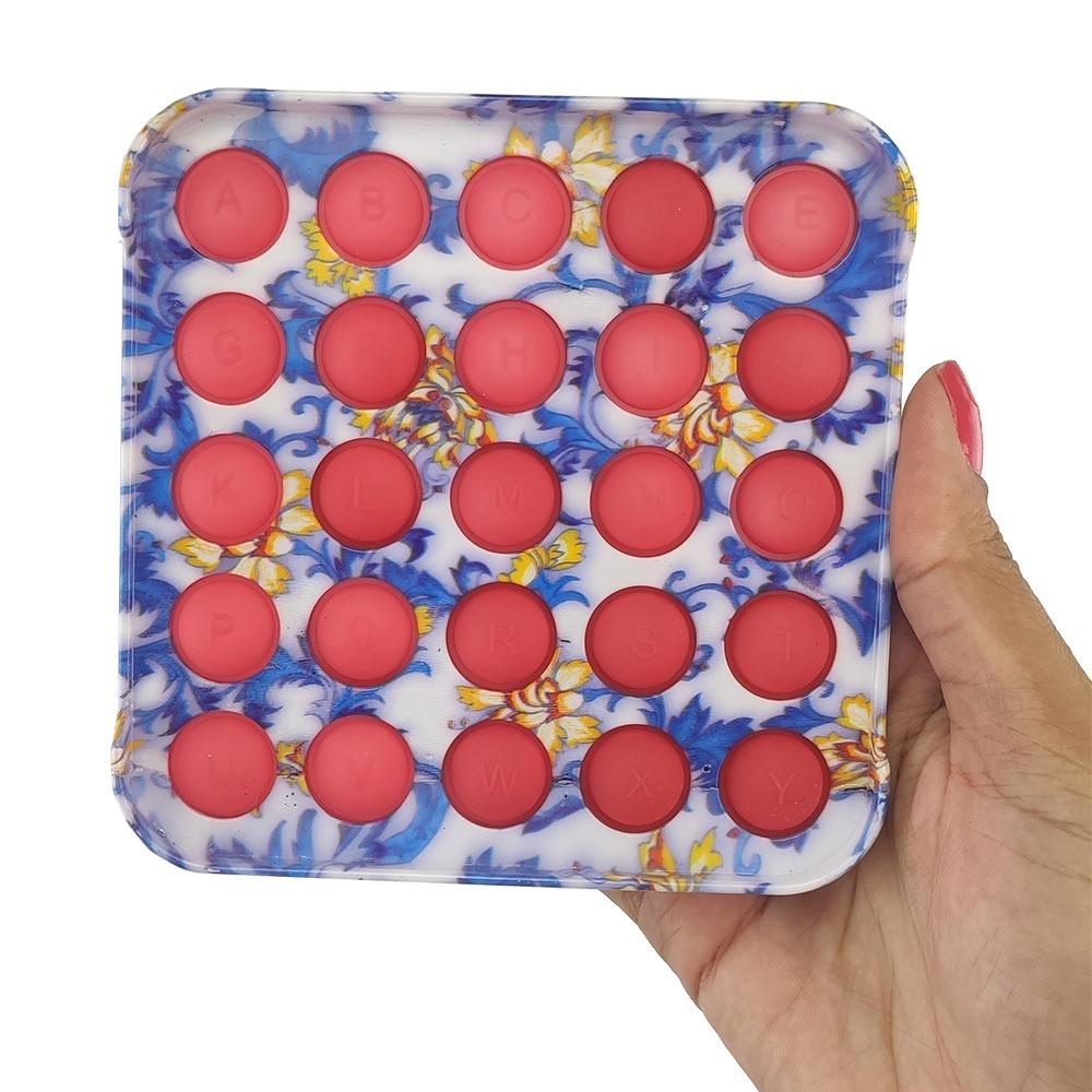 Fidget Pop it Sensorial Relaxante Anti estresse Ansiedade Resistente