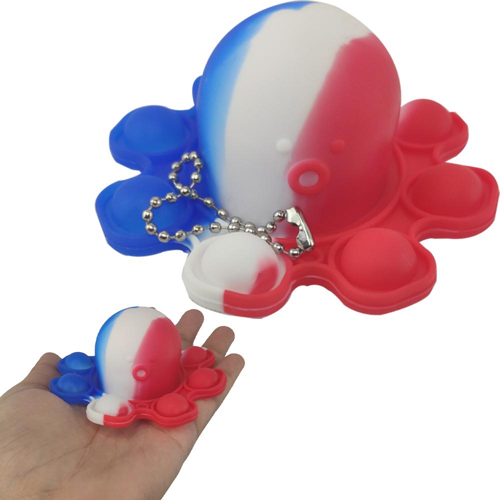 Fidget Toy Polvo Pop It Chaveiro Alivia Estresse Ansiedade Relaxante