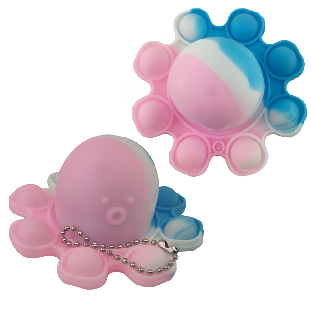Fidget Toy Polvo Pop It Chaveiro Alivia Estresse Ansiedade Relaxante Sensorial