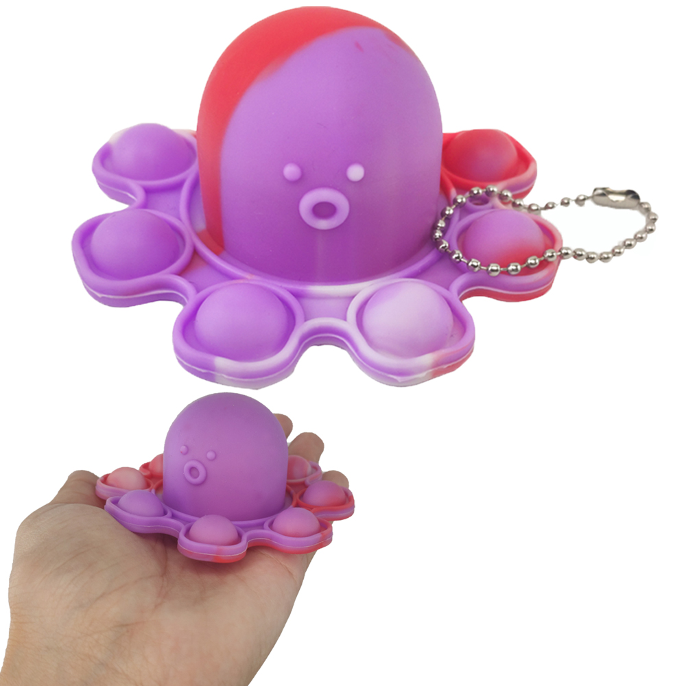 Fidget Toy Polvo Pop It Chaveiro antiestresse Ansiedade Relaxante Sensorial