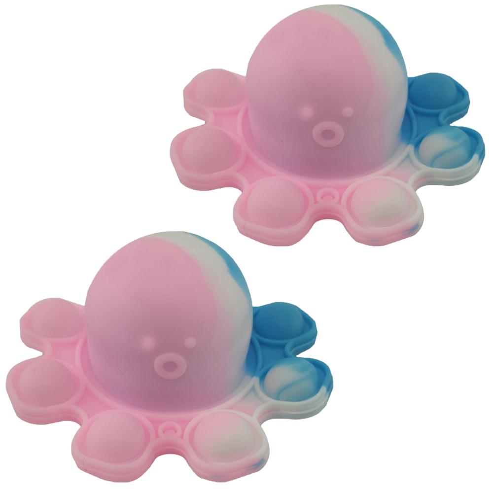 Fidget Toy Polvo Pop It Chaveiro Kit 2 Uni Anti Estresse Relaxante Sensorial