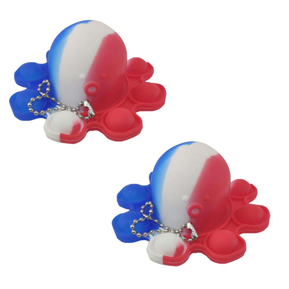 Fidget Toy Pop It Polvo Chaveiro Alivia Estresse Ansiedade Kit 2 Uni Sensorial