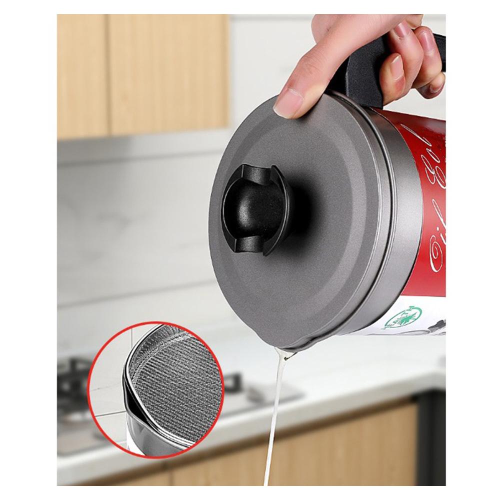 Filtro Oleo de Cozinha Pote Panela Armazenamento Separador