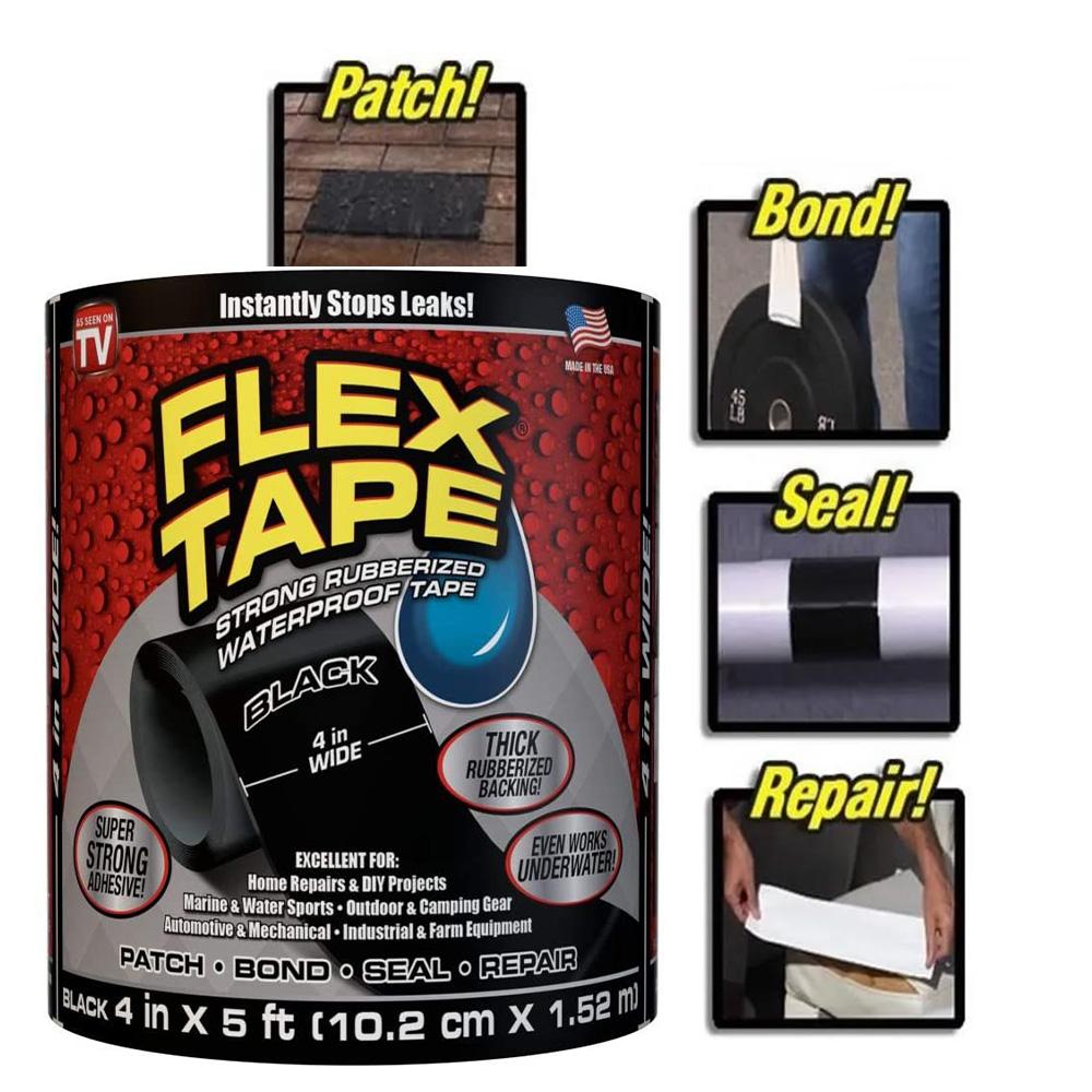 Fita Adesiva Flex Tape A Prova D'agua Piscinas vazamentos Cola Tudo