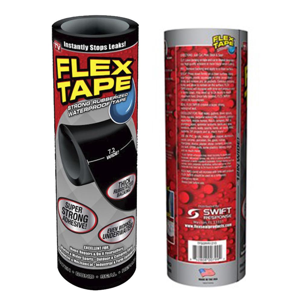 Fita Adesiva Flex Tape A vazamentos Cola Tudo Encanamentos Prova D'agua Piscinas