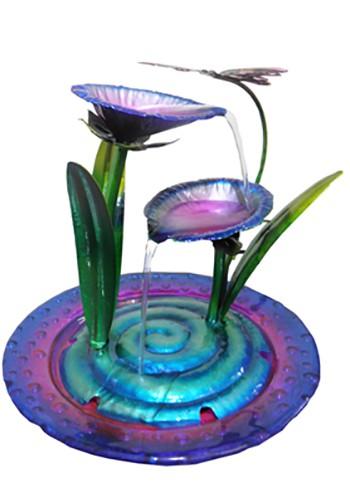 Fonte De Agua Cascata Decorativa em Metal Borboleta para Decoracao para Jardim e casa (FT-S)