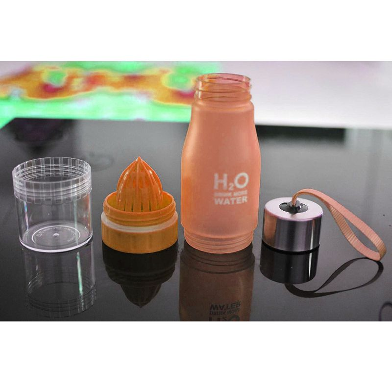 Garrafa Detox espremedor  H2o Drink More Water  Infusora  suco Chás 650 ml