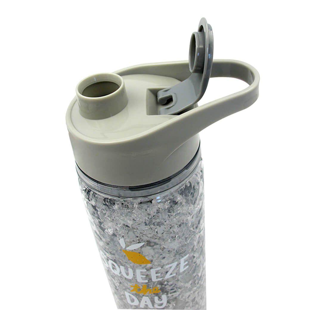 Garrafa Squezze Bebida Gel Congelante Cinza Resfriamento Agua Gelada