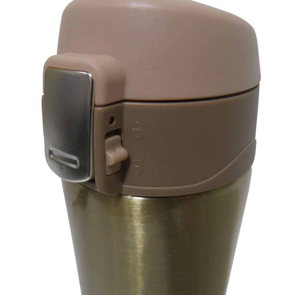 Garrafa Termica Aço Inox 500ml Vacuo Quente Frio Agua Café Dourado (16001Dourado)
