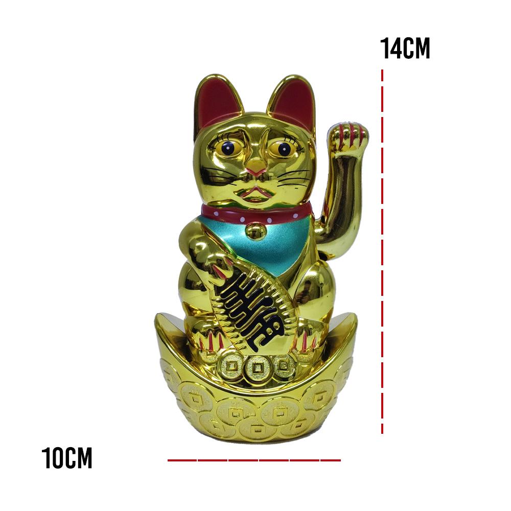 Gato Manekineko dinheiro Sorte Balança Mão Maneki Neko Gatinho prosperidade