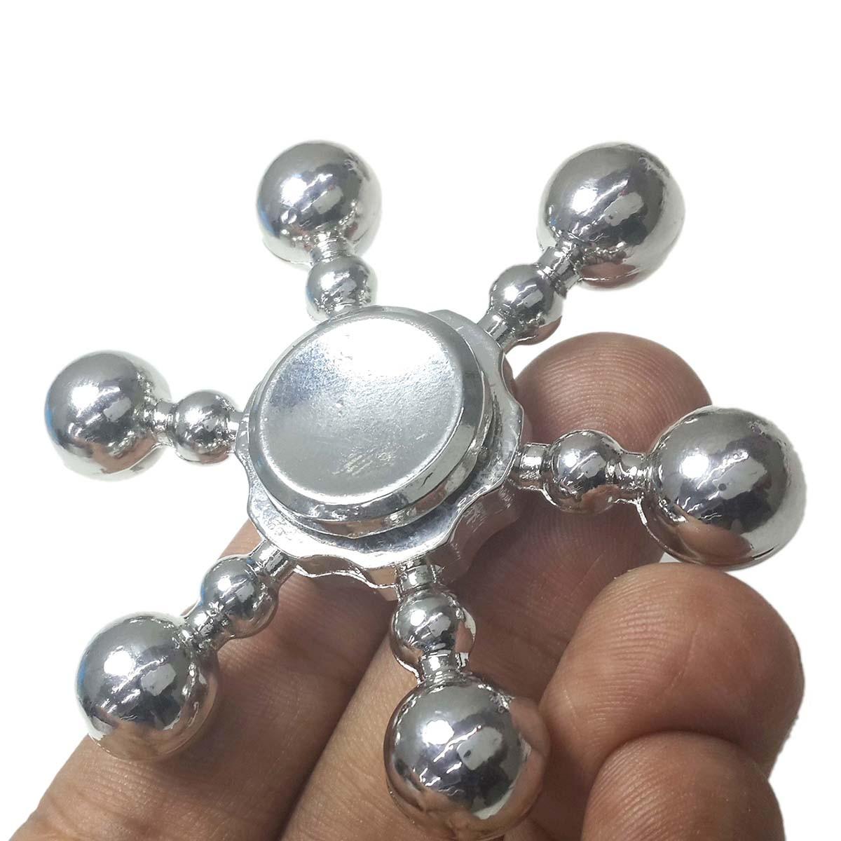 Hand Spinner Fidget De Leme Ansiedade Estresse Metal Prata (BSL-GIRA-10)