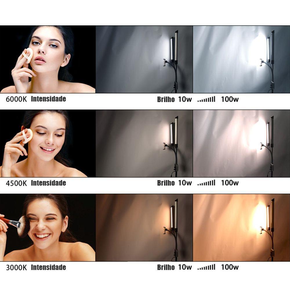 Iluminador LED Profissional Estudio Foto Video Celular Youtube USB Maquiagem